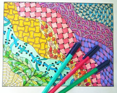 Zentangle coloreado