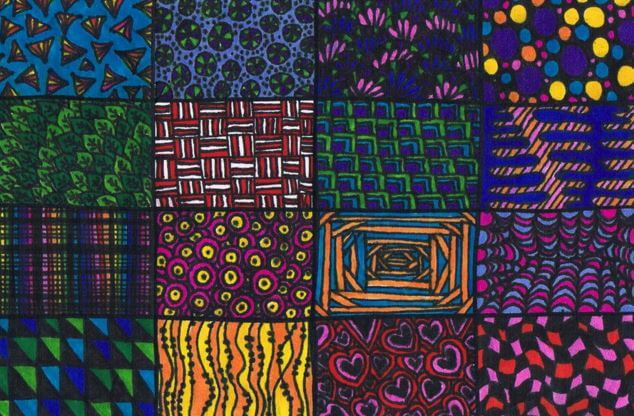 Zentangle de colores