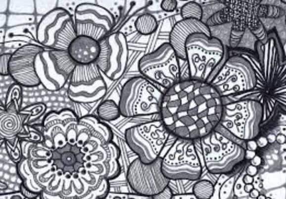 Zentangle de flores
