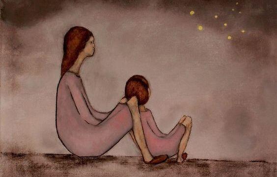 ilustración madres e hijas