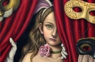 niña con máscaras representando las conversaciones paradójicas