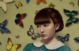 niña con mariposas representando las conversaciones paradójicas
