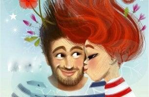 pareja besándose disfrutando de las mejores cosas