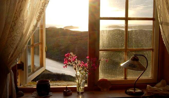 ventana abierta ante un paisaje que se disfruta a solas