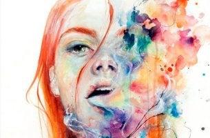 Mujer-echando-humo-de-colores-por-la-boca