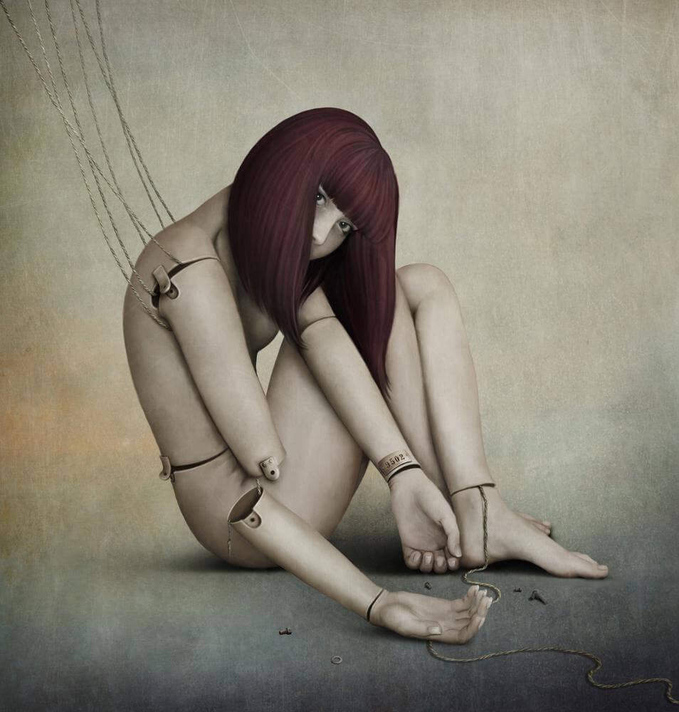 Muñeca con cuerdas