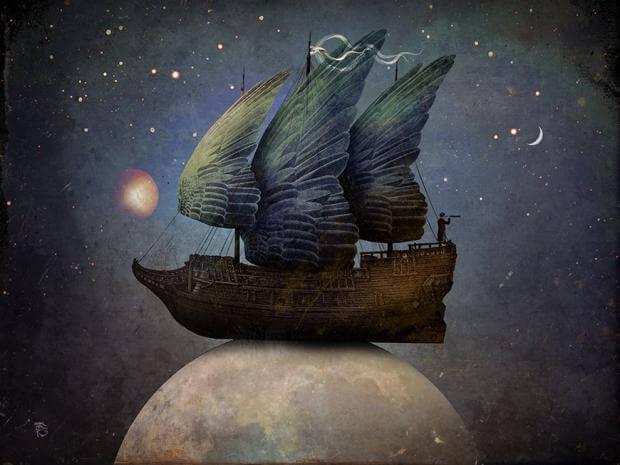 barco con alas