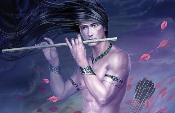 hombre tocando flauta