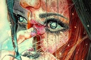 Ilustración de cara de una mujer