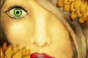 Mujer con mirada profunda