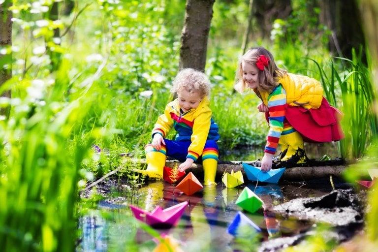 Un niño sano es espontáneo, ruidoso, inquieto, emotivo y colorido