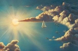 Nubes en el cielo simbolizando milagros