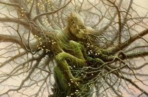 pareja árbol
