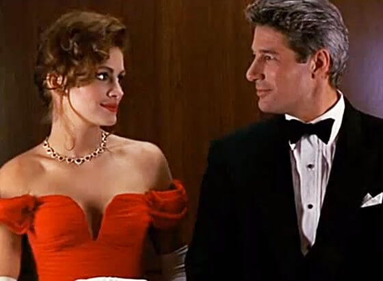Julia Roberts y richard gere en pretty woman