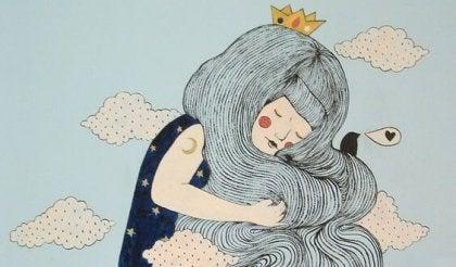 chica con corona en la cabeza