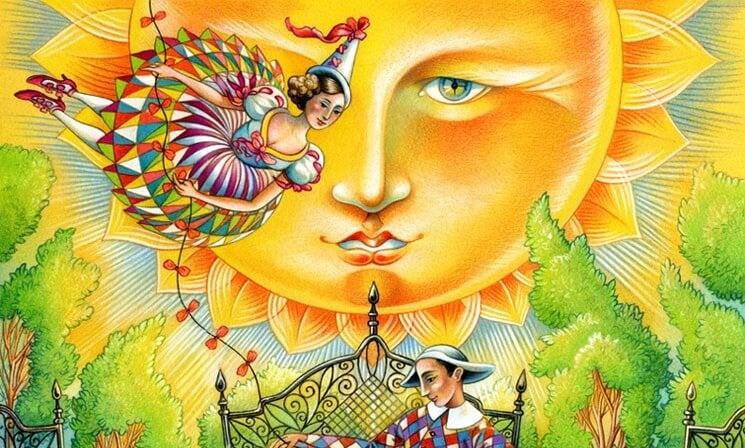 mujer en el sol