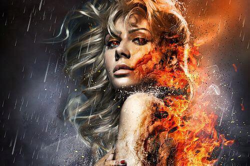 Mujer fuego