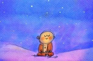 Niño consejos del budismo