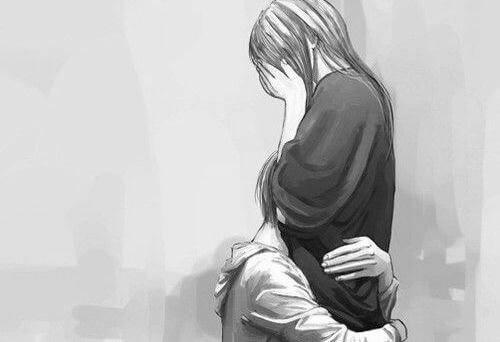 pareja triste