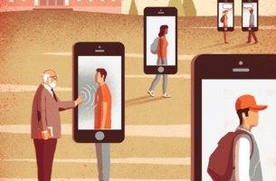 Personas con móvil