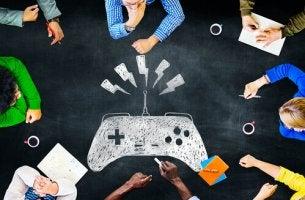Personas jugando a videojuegos