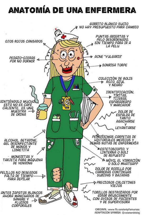 Anatomía de una enfermera