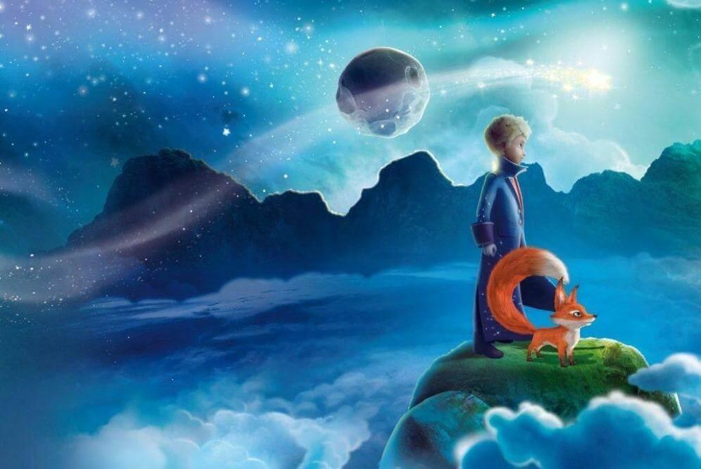 El Principito mirando al horizonte y pensando en el baobab en el corazón