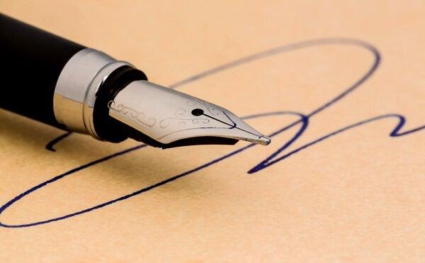 Firma para análisis de grafología