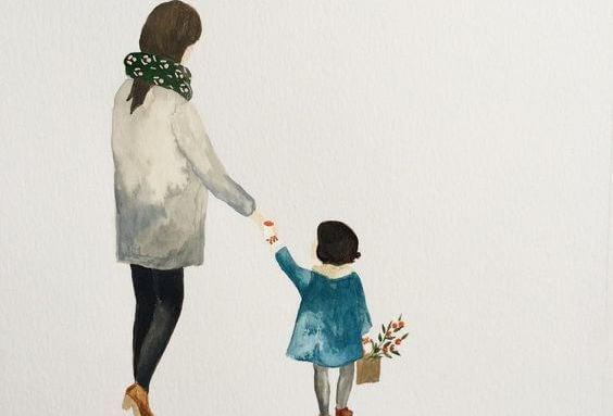 mamá con hija