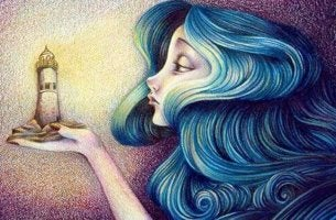 Mujer observando un faro representando cuando te vuelves frío