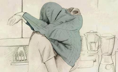 pareja abrazo bajo la ropa
