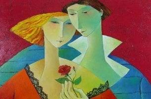 pareja con flor