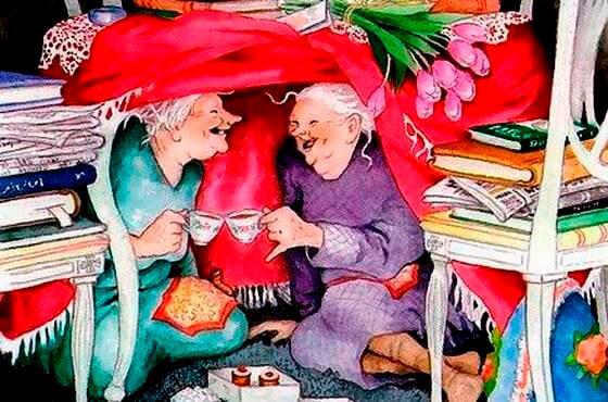 ancianas felices