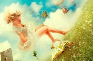 Chica con vestido blanco