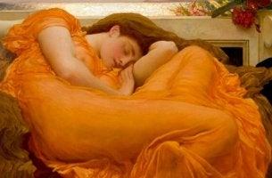 cuadro mujer siesta