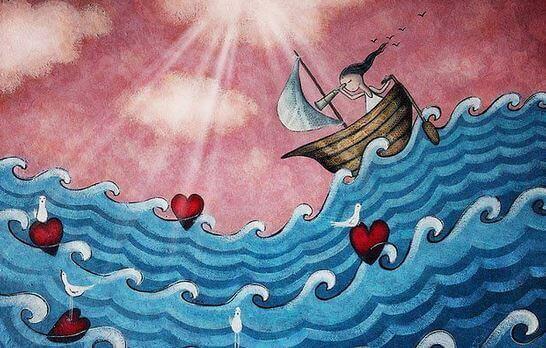 Mujer en un barco