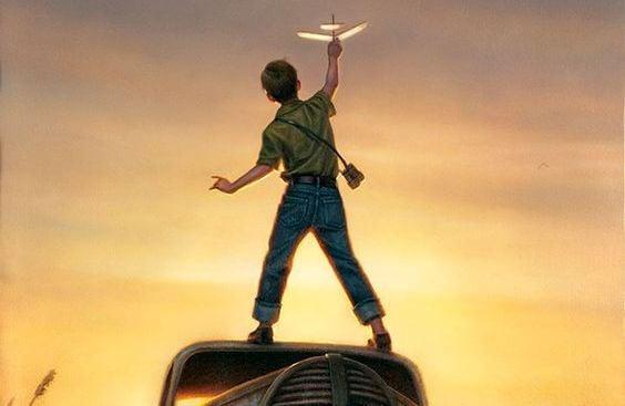 niño con avion