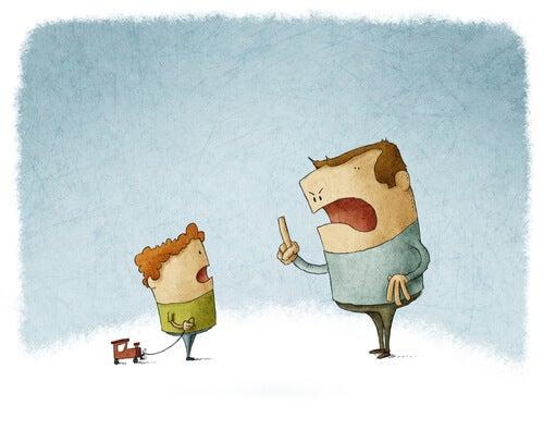 Padre diciendo no a su hijo