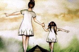 Madre e hija reprenstando el yo pasado y presente