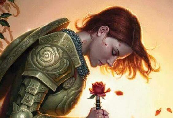 mujer armadura