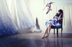 mujer-pájaros