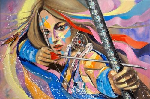 Mujer con una flecha