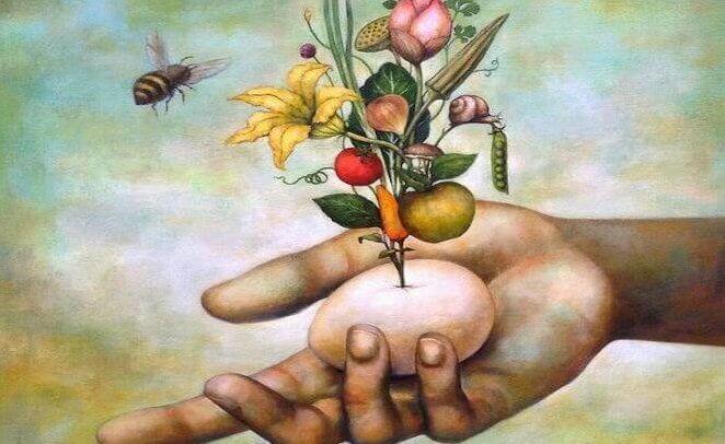 abeja-flores representando la desconexión interior