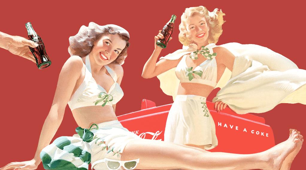 imagen clasica coca cola feliz