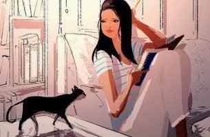 mujer leyendo con perseverancia