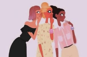 mujeres moviendo la lengua