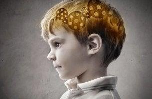 Cerebro de un niño mostrando el subconsciente