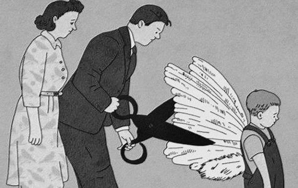 padres cortando mandatos y alas