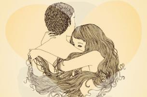 personas introvertidas abrazándose