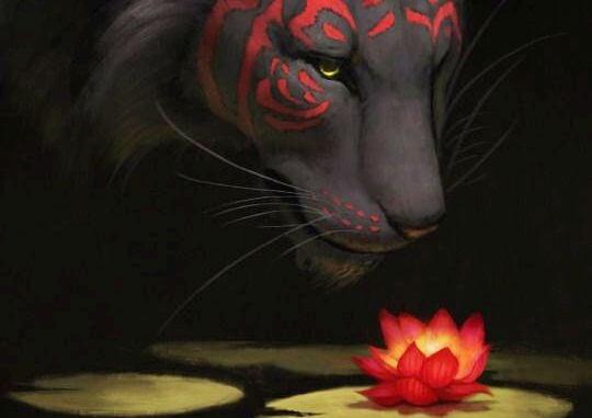 tigre-flor-de-loto-coraje